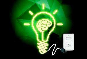 brain inside a lamp