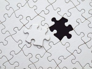 almost finish jigsaw puzzle